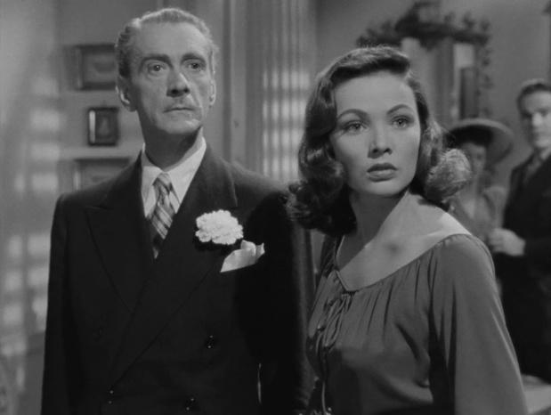 Gene Tierney et Clifton Webb dans le film Laura (1944) d'Otto Preminger