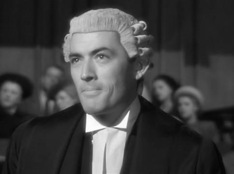 Gregory Peck dans le film The Paradine case (Le procès Paradine, 1947) d'Alfred Hitchcock