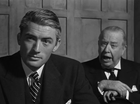 Gregory Peck et Charles Coburn dans The Paradine case (Le procès Paradine, 1947) d'Alfred Hitchcock