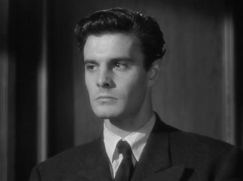 Louis Jourdan dans le film The Paradine case (Le procès Paradine, 1947) d'Alfred Hitchcock