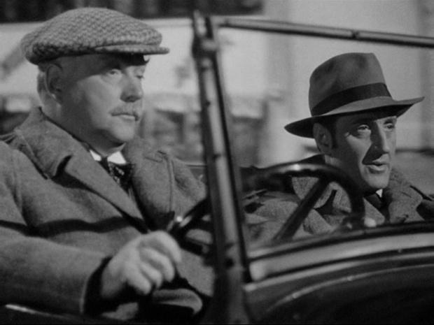 Nigel Bruce et Basil Rathbone dans Sherlock Holmes faces death (Echec à la mort, 1943)