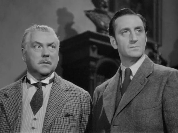 Sherlock Holmes faces death (Echec à la mort, 1943) de Roy William Neill : l'échiquier géant