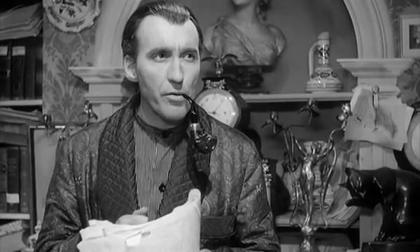 Sherlock Holmes und das Halsband des Todes (Sherlock Holmes et le collier de la mort, 1962) de Frank Winterstein et Terence Fisher : Holmes dérobe le collier de Cléopâtre