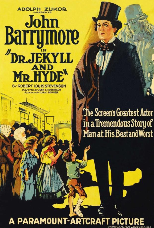 Affiche du film Dr. Jekyll and Mr. Hyde (Docteur Jekyll et M. Hyde, 1920) de John S. Robertson