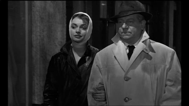 Nadja Tiller et Jean Gabin dans le film Le désordre et la nuit