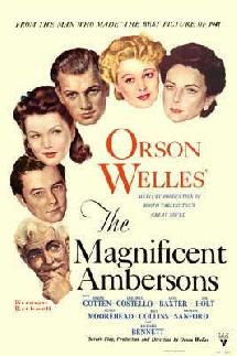 Une affiche de The magnificent Ambersons