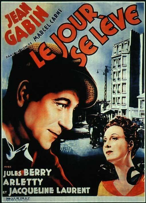 Le jour se lève : à gauche, Jean Gabin