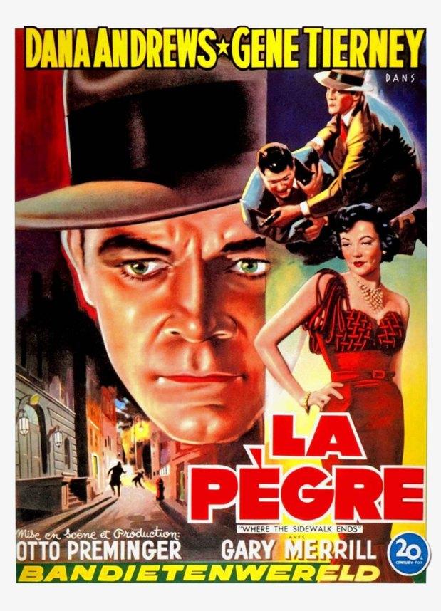 Une affiche espagnole de Mark Dixon détective