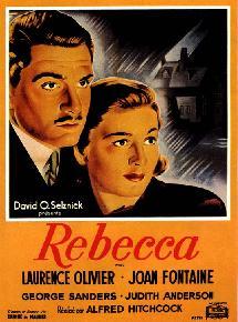Une affiche de Rebecca (1940), d'Alfred Hitchcock