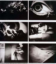 Quelques images de la séquence du rêve dans Spellbound (1945), d'Alfred Hitchcock, auquel fait référence le générique du Secret derrière la porte, de Lang