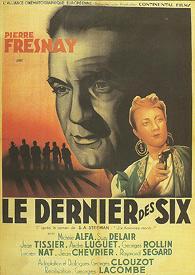 Le dernier des six, film de Georges Lacombe, d'après un livre policier de Steeman