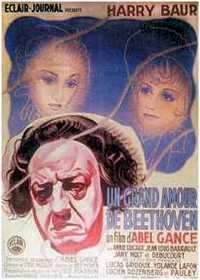 Affiche du film d'Abel Gance, Un grand amour de Beethoven, dans lequel Baur incarne le grand musicien