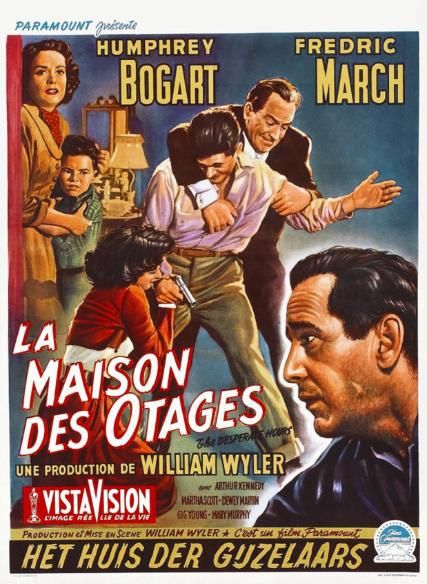 The desperate hours (La maison des otages, 1955) de William Wyler : la famille menacée (HD)