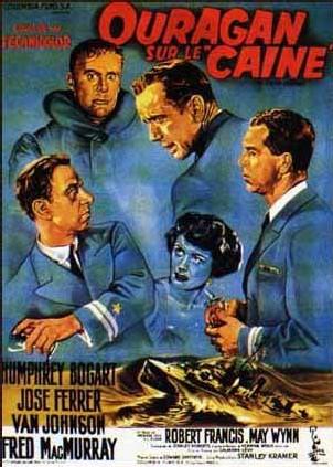 Ouragan sur le Caine, où Bogart est le commandant psychopathe