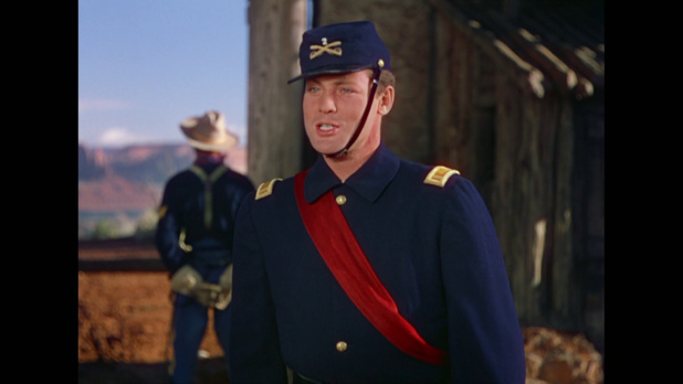 She Wore a Yellow Ribbon (La charge héroïque, 1949) de John Ford : le capitaine se rend sur la tombe de sa femme (HD)