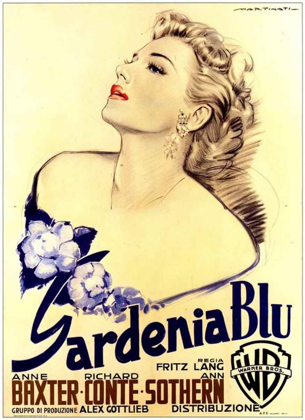 The blue gardenia (La femme au gardénia, 1953) de Fritz Lang : le drame; et le coup de théâtre