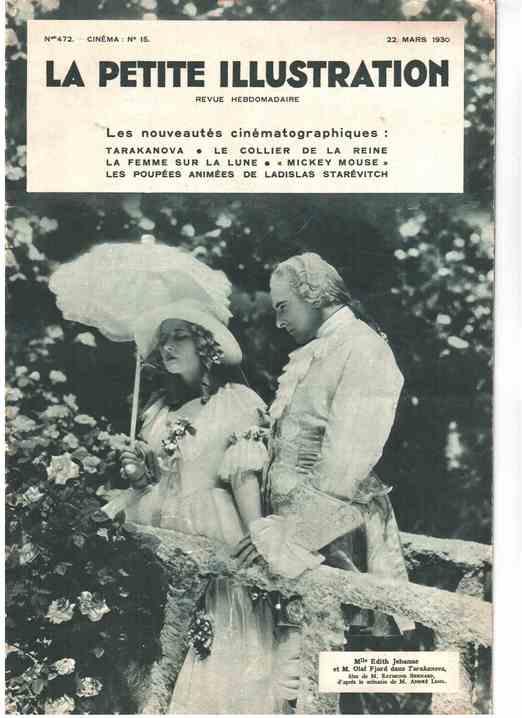 Tarakanova présenté par La petite illustration en 1930