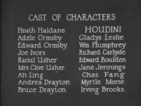 Haldane of the secret service (1923) de Harry Houdini : Haldane en danger de mort