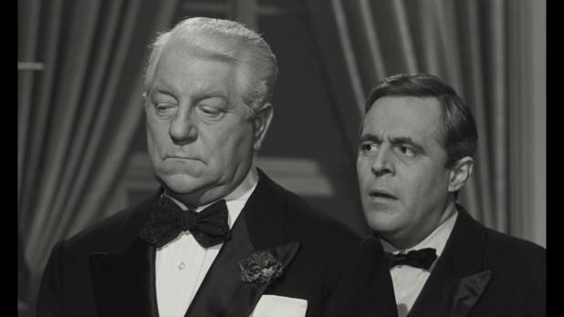 Jean Gabin et Jacques Hilling dans le film Le baron de l'écluse (1960)