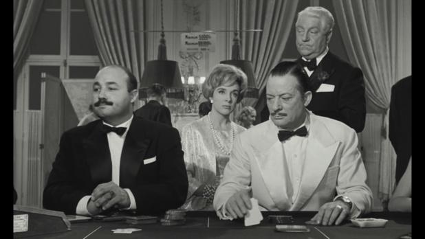 Jean Constantin, Micheline Presle et Jean Gabin dans Le baron de l'écluse (1960)