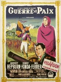 Une affiche française de Guerre et paix