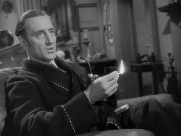 Basil Rathbone dans Sherlock Holmes et la clé
