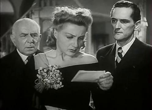 Georges Mauloy, Annie Ducaux et Jacques Dumesnil dans le film L'homme du Niger (1940) de Jacques de Baroncelli