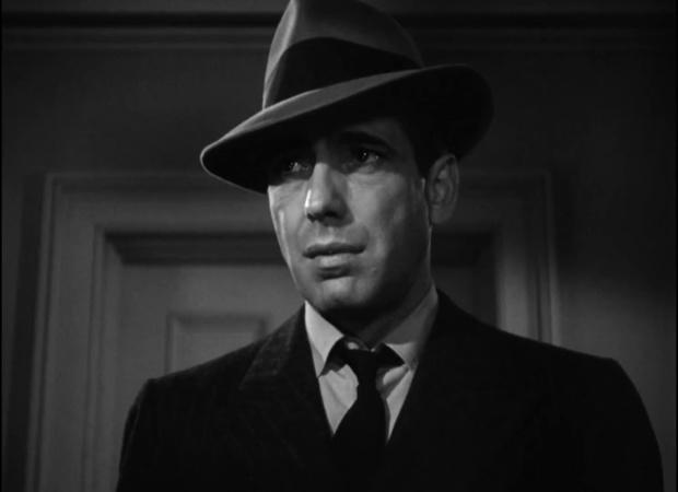 Humphrey Bogart dans le film The maltese falcon  (Le faucon maltais, 1941) de John Huston