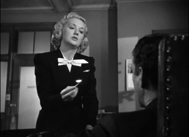 Lee Patrick dans le film The maltese falcon  (Le faucon maltais, 1941) de John Huston