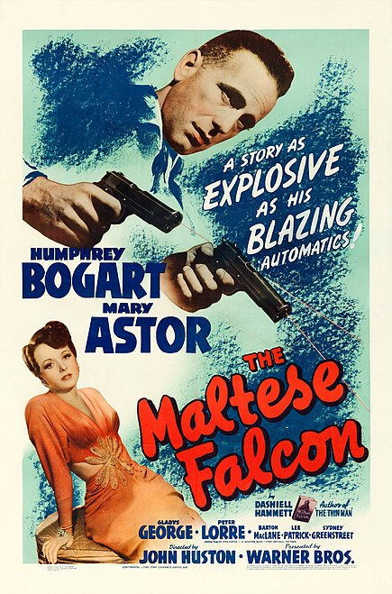 Affiche du film The maltese falcon  (Le faucon maltais, 1941) de John Huston