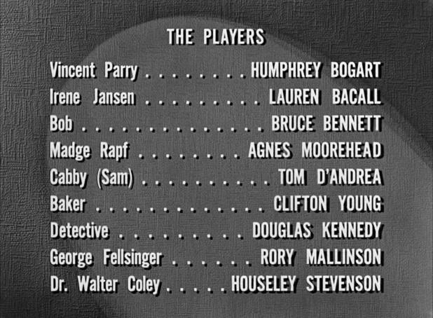 Interprètes du film noir Dark passage (Les passagers de la nuit, 1947) de Delmer Daves