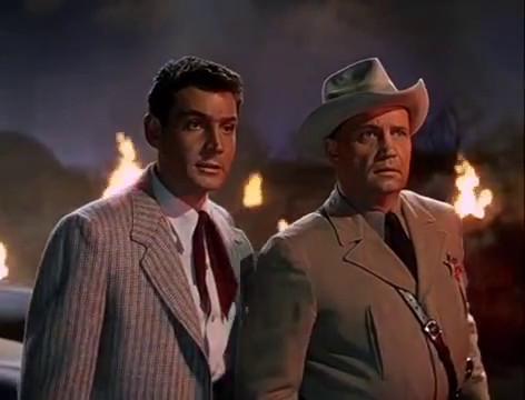 Gene Barry et Walter Sande dans le film The war of the worlds (La guerre des mondes, 1953) de Byron Haskin