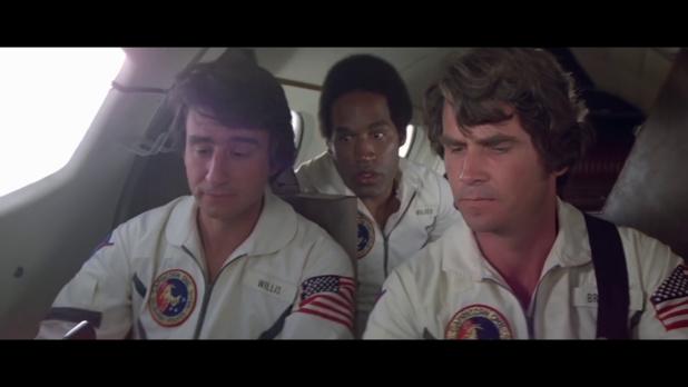 Les trois astronautes dans le film Capricorn One (1978) de Peter Hyams