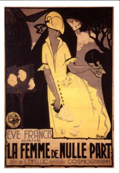 Affiche du film muet La femme de nulle part (1922) de Louis Delluc