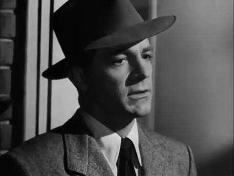 Dana Andrews dans le film noir Fallen angel (Crime passionnel, 1945) d'Otto Preminger