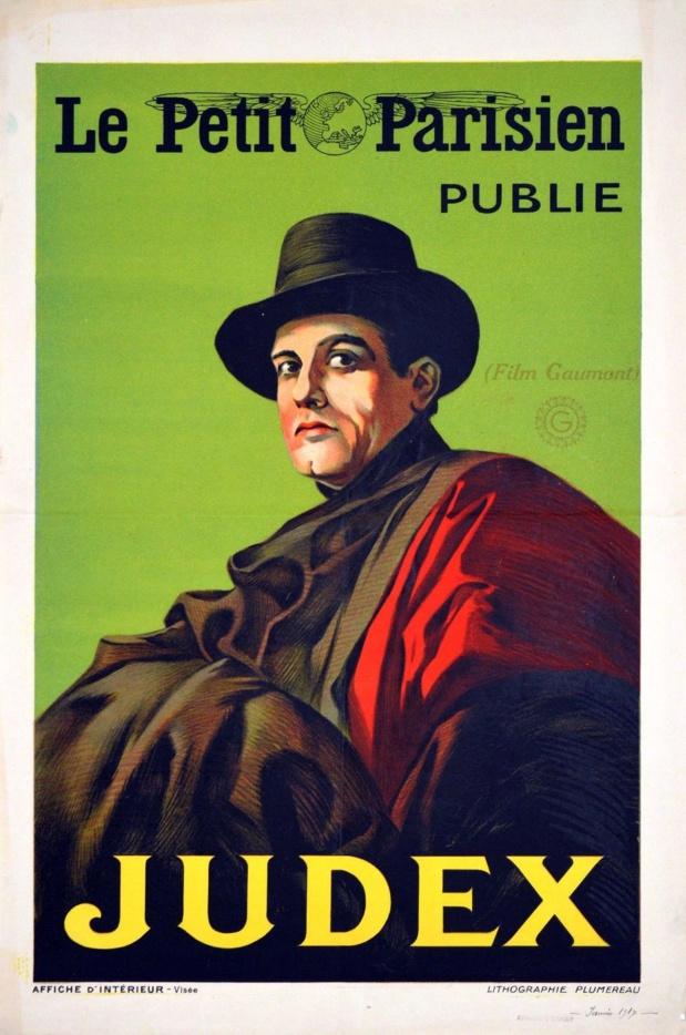 Affiche du film muet Judex (1916) de Louis Feuillade