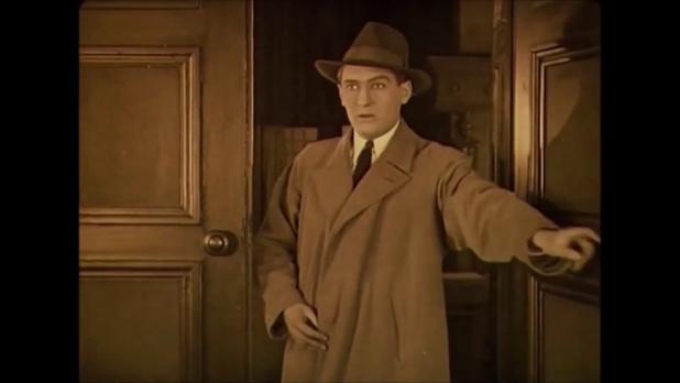Lukács Pál dans le film muet Egy fiúnak a fele (1924) de Géza von Bolváry