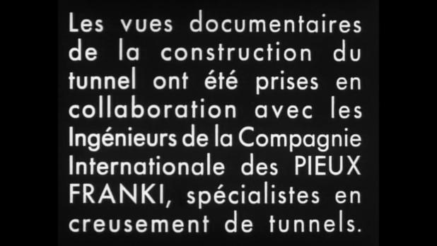 Générique du film Le tunnel (1933) de Kurt Bernhardt
