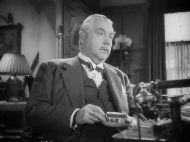 Nigel Bruce dans le film policier The house of fear (La maison de la peur, 1945) de Roy William Neill