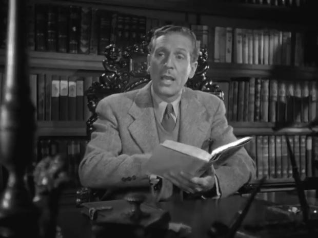 Paul Cavanagh dans une enquête de Sherlock Holmes : The house of fear (La maison de la peur, 1945) de Roy William Neill