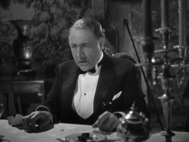 Holmes Herbert est Alan Cosgrave dans une enquête de Sherlock Holmes : The house of fear (La maison de la peur, 1945) de Roy William Neill