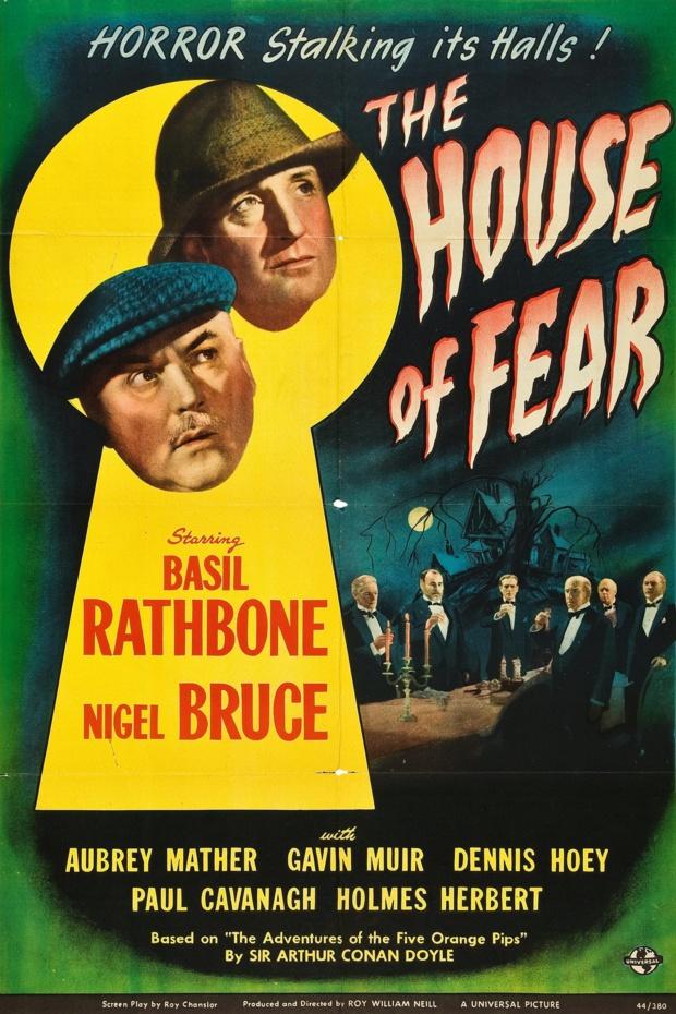 Affiche du film The house of fear (La maison de la peur, 1945) de Roy William Neill