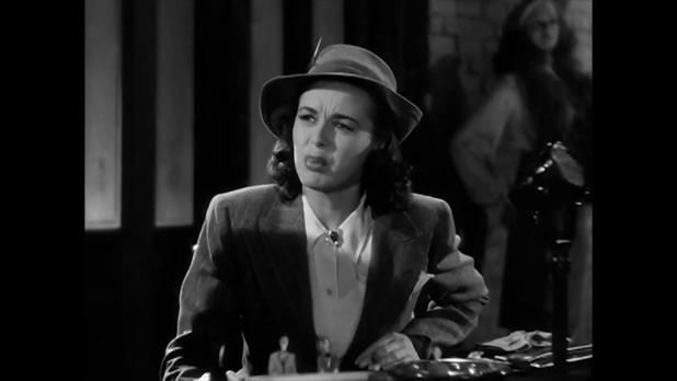 Marguerite Chapman dans le film policier américain Charlie Chan at the Wax museum (1940) de Lynn Shores