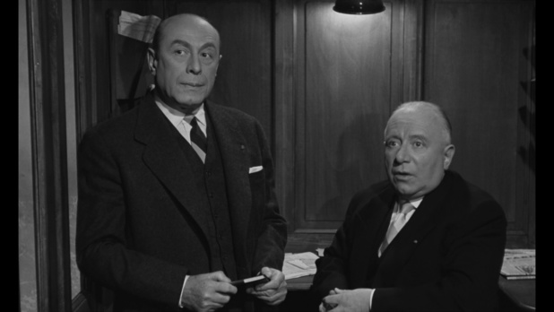 Jean Wall et Louis Seigner dans le film Les grandes familles (1958) de Denys de la Patellière