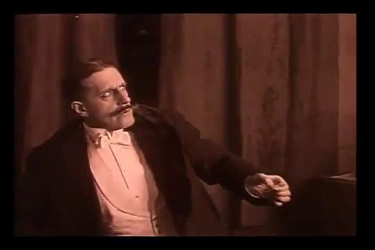 Henry Roussel dans le film muet Figures de cire (1914) de Maurice Tourneur