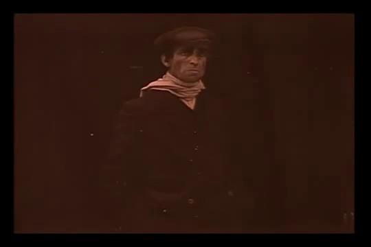 L'acteur Gouget dans le film muet Figures de cire (1914) de Maurice Tourneur