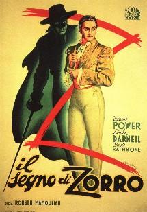 Affiche espagnole du film Le signe de Zorro