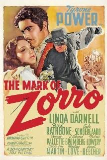 Une Affiche américaine du film Le signe de Zorro
