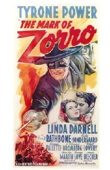 Affiche américaine du film Le signe de Zorro