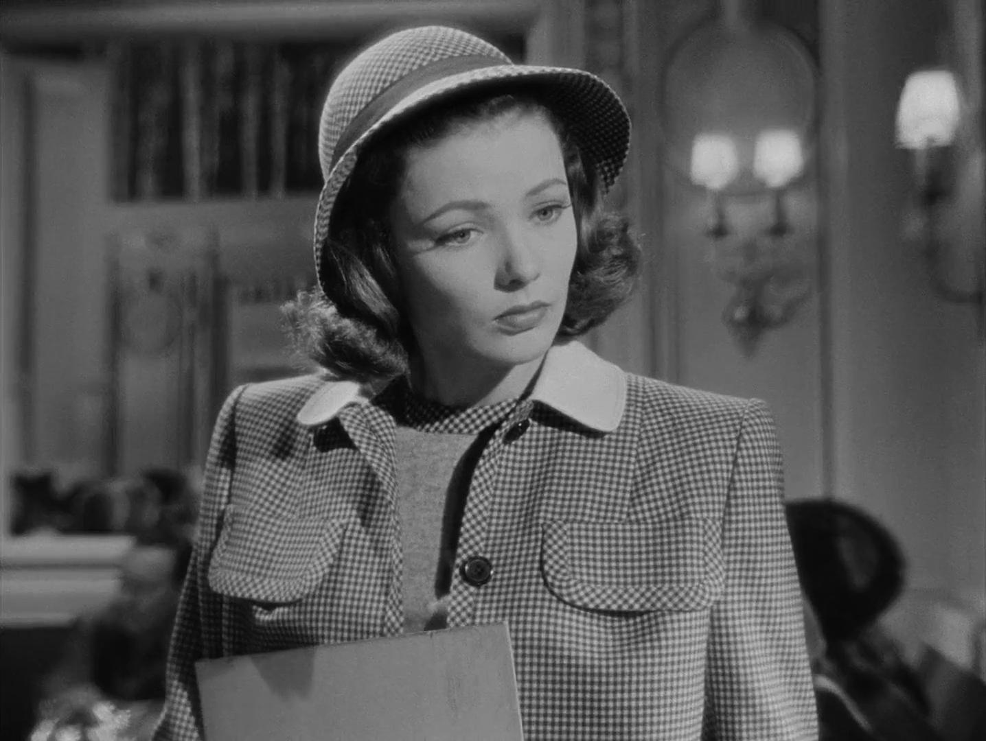 Gene Tierney dans le film noir Laura (1944) d'Otto Preminger